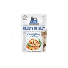 Brit Care Cat Pouch Fillets Jelly Chicken Cheese