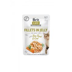 Brit Care Cat Pouch Fillets Jelly Trout & Cod