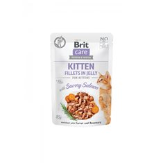 Brit Care Cat Pouch Fillets Jelly Salmon Kitten