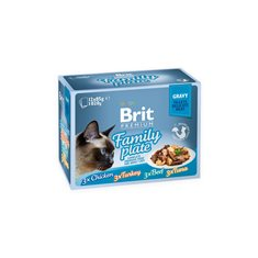 Brit Premium Family Plate Fillets in Gravy Multipack