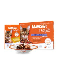Iams Delights gravy Land & Sea
