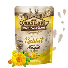 Carnilove Cat Pouch Rabbit enriched with Marigold for Kitten