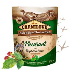 Carnilove Dog Pouch Pheasant with Raspberry Leaves Paté