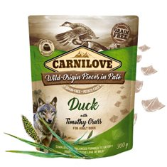 Carnilove Dog Pouch Duck with Timothy Grass Paté